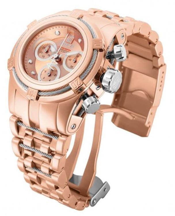 Invicta 14610 Reserve Women's Jason Taylor Bolt Zeus Swiss Chronograph Rose Tone Watch | Free Shipping