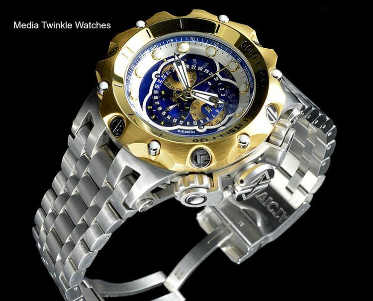 Invicta 16808 Reserve VENOM Hybrid Gold Tone Bezel 5040F Swiss Quartz Chronograph Bracelet Watch | Free Shipping