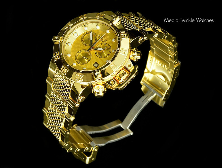 Invicta 16699 Women's Subaqua Noma III Swiss Chronograph 18k High Polish Gold Tone Watch | Free Shipping