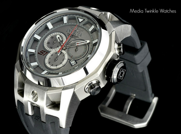 Invicta 16811 S1 Rally 50mm Swiss Made 5040.D Swiss Quartz Chronograph Silver Dial TITANIUM Case Watch   Free Shipping