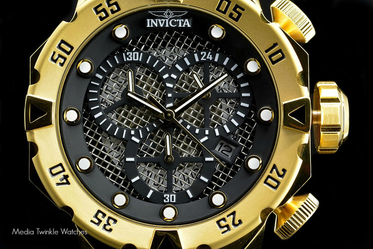 """Invicta 19182 I-Force 52mm """"Twisted Metal"""" Black Dial Quartz Chronograph Stainless Steel Bracelet Watch 