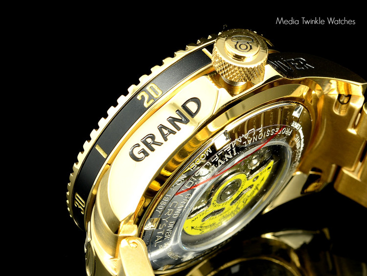 Invicta 19807 Grand Diver 2 Gen II 47mm Automatic Gold Stainless Steel Bracelet Watch   Free Shipping