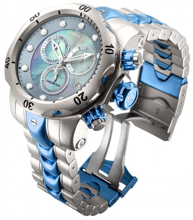 Invicta 15462 Reserve 52mm Venom Swiss Chronograph Two-Tone Platinum M.O.P Dial Bracelet Watch