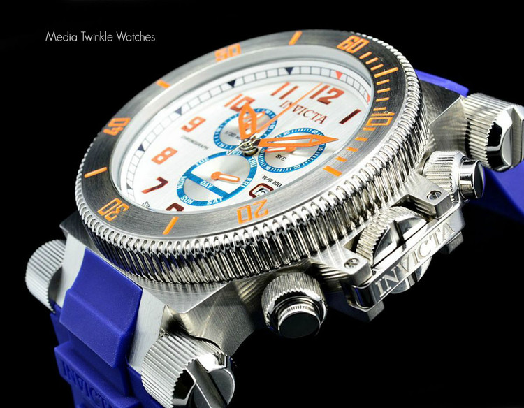 Invicta 18728 Coalition Forces 51mm Swiss Made Quartz Chronograph Blue Strap Watch I Free Shipping