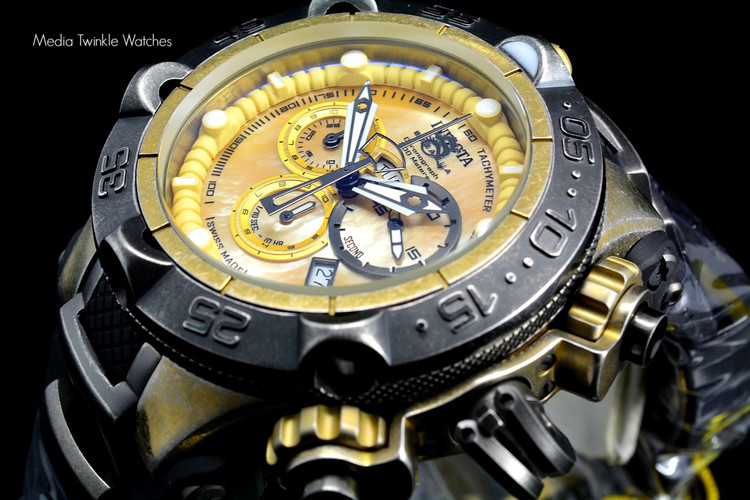 Invicta 18178 Subaqua Noma V 50mm Swiss Made Quartz Chronograph Industrial Finish Black Polyurethane Strap Watch | Free Shipping
