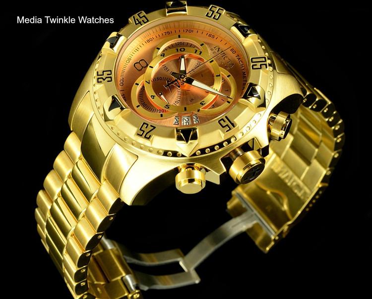 Invicta 80625 Reserve Excursion Swiss Quartz Chronograph Rose Gold Dial Bracelet Watch   Free Shipping