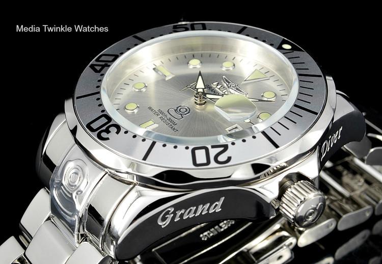 Invicta 13937 Grand Diver 47mm AUTOMATIC Silver Dial Mirror Polish Bracelet Watch