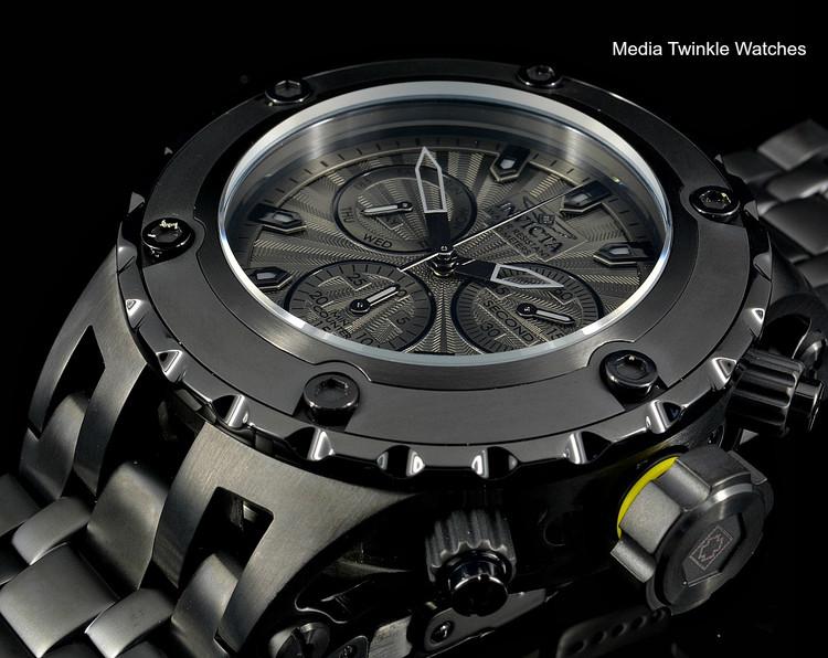 Invicta 52MM Specialty Subaqua 23924 Combat Black Quartz Chronograph Bracelet Watch