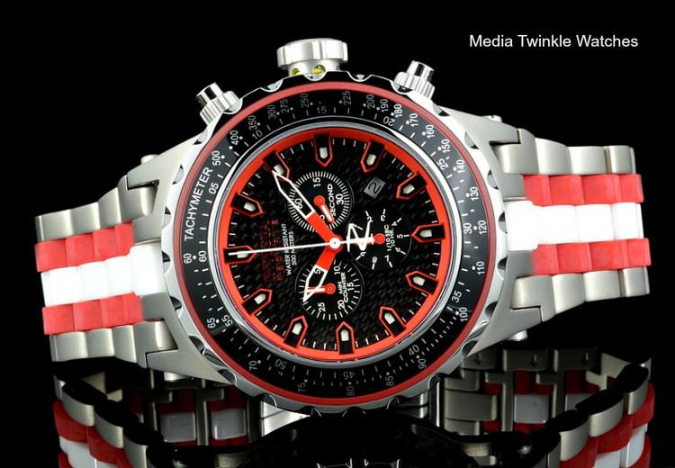 Invicta 52MM Reserve Specialty 12779 Subaqua Red Dial Titanium Case Bracelet Watch