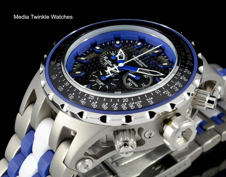 Invicta 52mm 12781 Reserve Specialty Subaqua Blue Dial Titanium Case Bracelet Watch