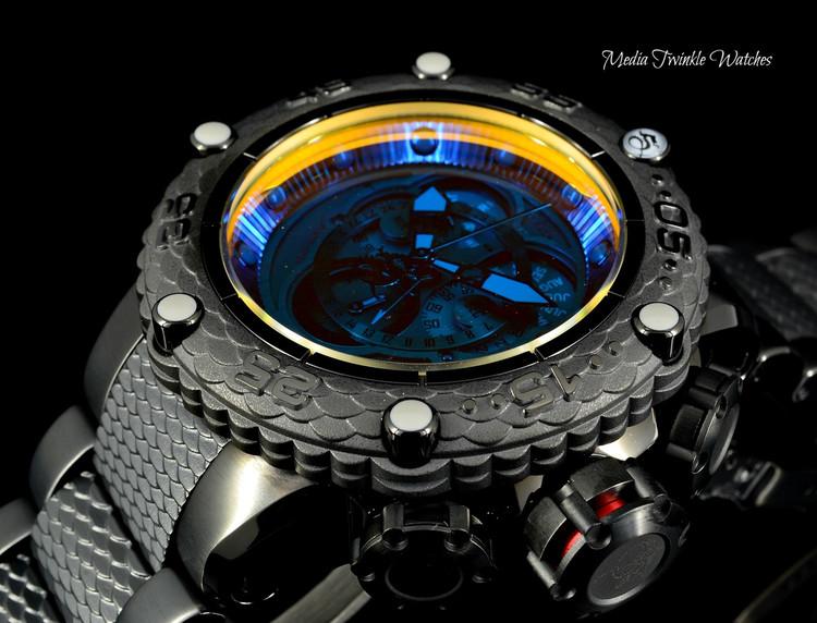 Invicta 50mm Subaqua Noma VI Black Quartz Chronograph Master Calender TINTED CRYSTAL Bracelet Watch 25426