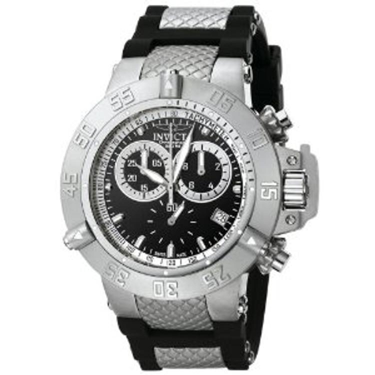 Invicta 5511 Subaqua Noma III Swiss Quartz Chronograph Black Dial Polyurethane Strap Watch | Free Shipping