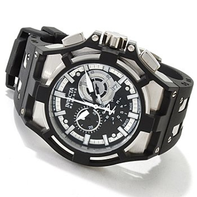 Invicta 0636 Reserve Men's Akula Swiss Made Quartz Chronograph Polyurethane Strap Watch | Free Shipping