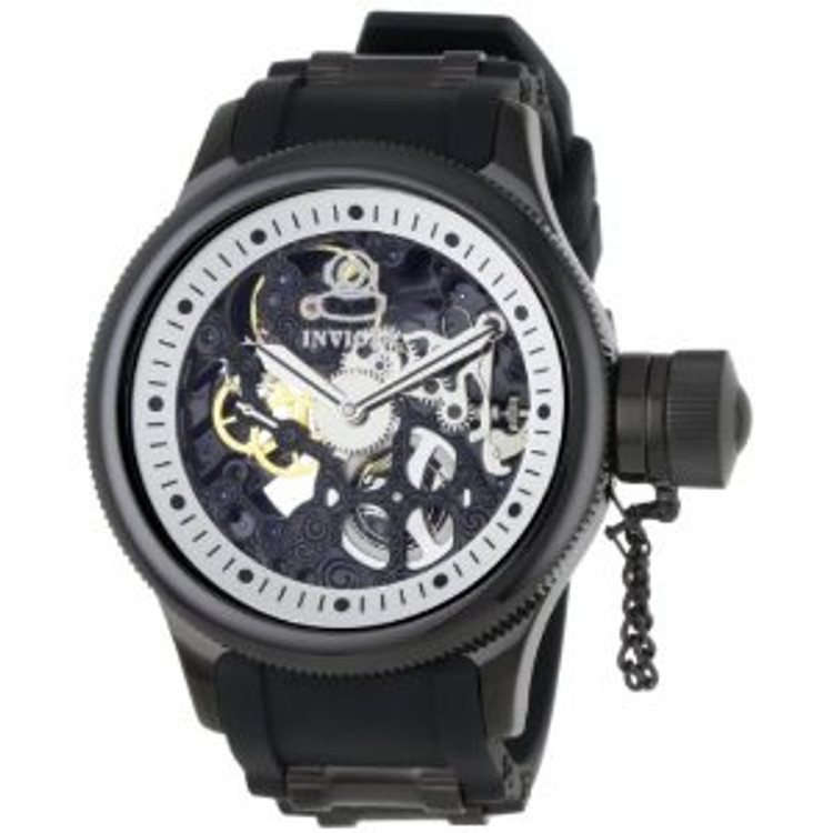 Invicta 1091 Russian Diver Mechanical Black Polyurethane Watch | Free Shipping