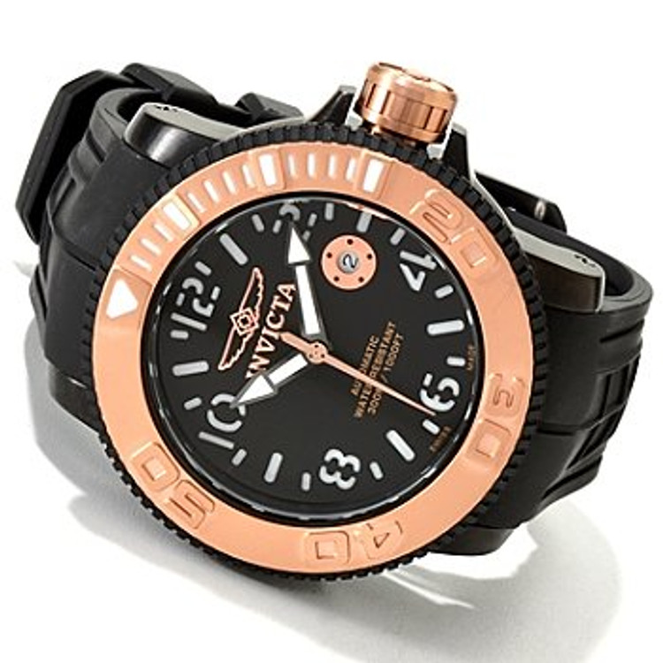 Invicta 1072 Sea Hunter Automatic Exhibition Back Watch