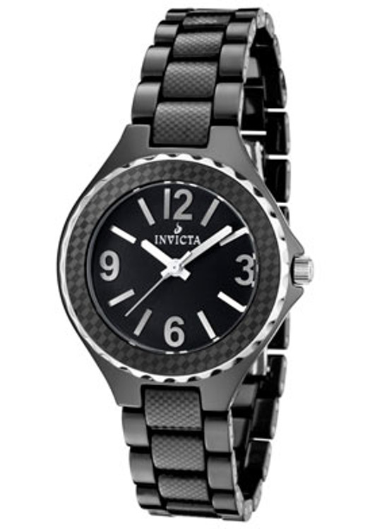 Invicta 1185 Unisex Swiss Pro Diver Ceramic Black Dial Watch | Free Shipping