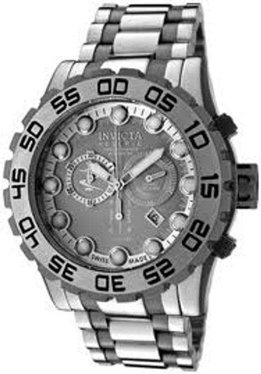 Invicta 0809 Reserve Collection Swiss Made Leviathan Chronograph Silver Dial Stainless Steel Watch | Free Shipping