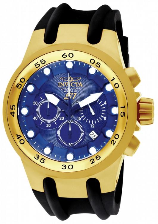 "Invicta 1510 Men's S1 Quartz Chronograph ""Baby venom"" Stainless Steel Case Polyurethane Strap Watch   Free Shipping"