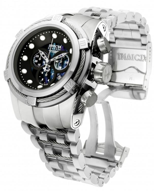 Invicta 0820 Reserve Bolt Zeus Swiss Made Quartz Chronograph Mother-of-Pearl Dial Bracelet Watch (Zeus) | Free Shipping
