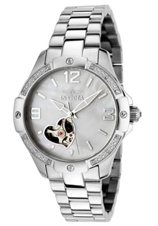 Invicta 0288 Women's Specialty Self-Winding AUTOMATIC Diamond Accented Stainless Steel Watch | Free Shipping