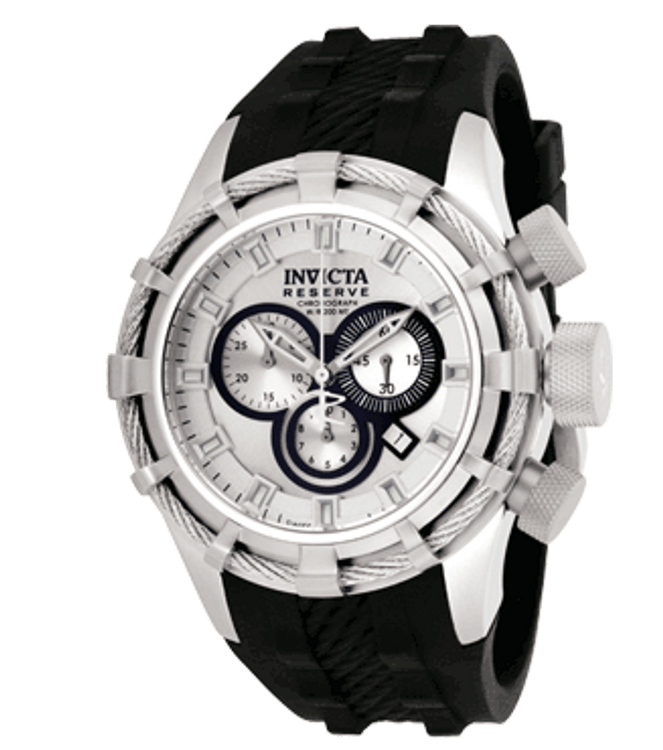 Invicta 1226 Men's Reserve Bolt Swiss Made Collection Chronograph Polyurethane Watch | Free Shipping