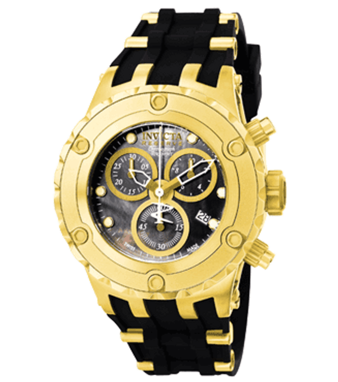 Invicta 0532 Reserve Women's Specialty Swiss Made Quartz Chronograph Polyurethane Strap Watch | Free Shipping