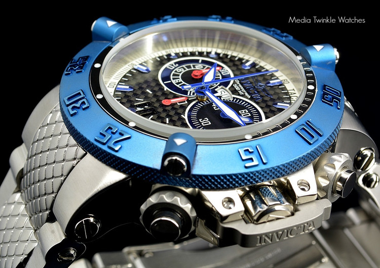 Invicta 10193 Men's Subaqua Noma III Swiss Quartz Chronograph Blue Dial Stainless Steel Bracelet Watch   Free Shipping
