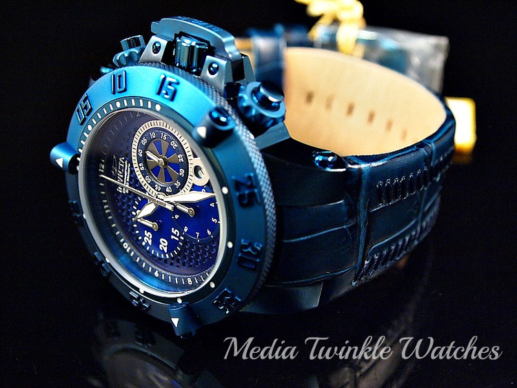 Invicta 10203 Men's Subaqua Noma III Swiss Quartz Chronograph Leather Strap Watch | Free Shipping