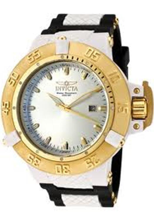 Invicta 10114 Mens Subaqua Noma III Swiss Quartz Silver Dial Polyurethane Strap Watch | Free Shipping