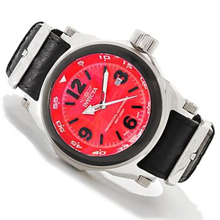 Invicta 10519 Men's I Force Swiss Quartz Leather Strap Watch | Free Shipping