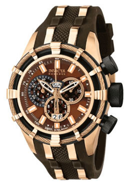 Invicta 10205 Reserve Bolt Swiss Made Chronograph Polyurethane Strap Watch | Free Shipping