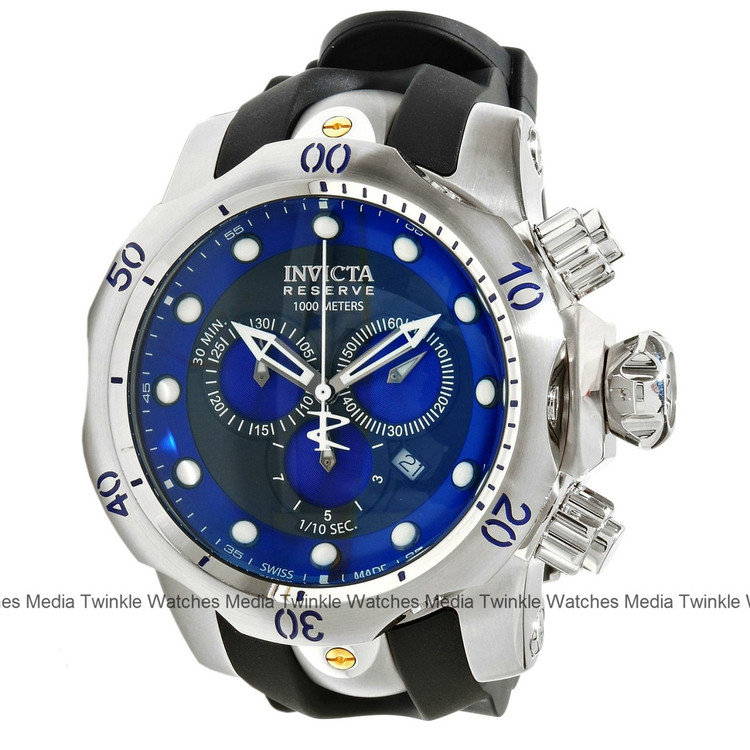 "Invicta 10958 Reserve Men's Venom ""Puppy Edition"" Swiss Quartz Chronograph Polyurethane Strap Watch | Free Shipping"