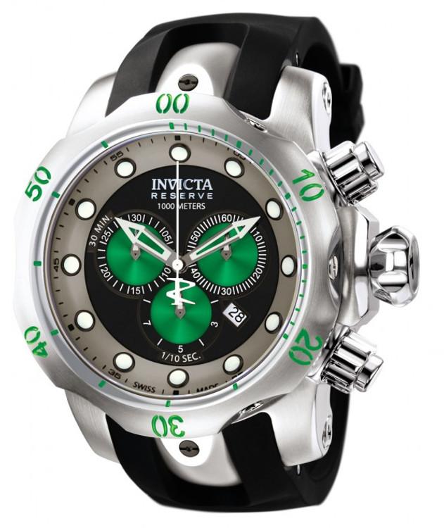 "Invicta 10957 Reserve Men's Venom ""Puppy Edition"" Swiss Quartz Chronograph Polyurethane Strap Watch | Free Shipping"