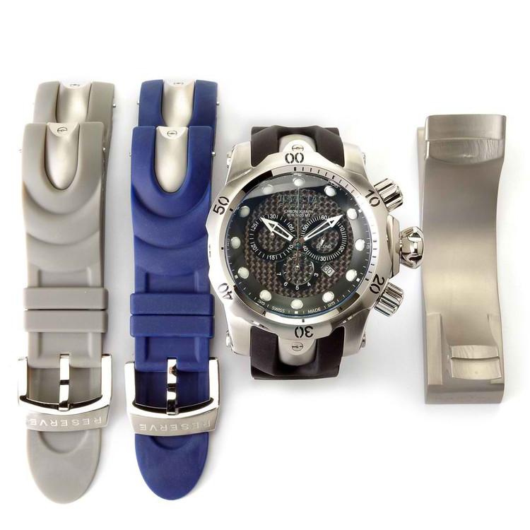 Invicta 10945 Reserve Men's Venom Ocean Quest II Quartz Interchangeable Strap Watch w/ 3-Slot Dive Case   Free Shipping