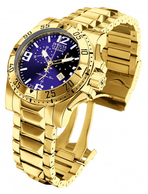 Invicta 5676 Reserve Excursion Quartz Chronograph 18K Gold Plated Stainless Steel Watch | Free Shipping
