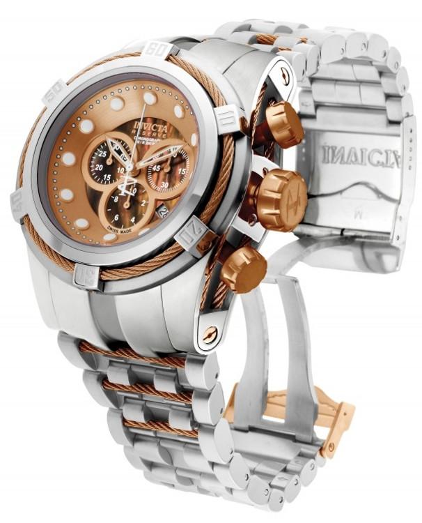 Invicta 0823 Reserve Bolt Zeus Swiss Made Quartz Chronograph Mother-of-Pearl Dial Bracelet Watch (Zeus) | Free Shipping
