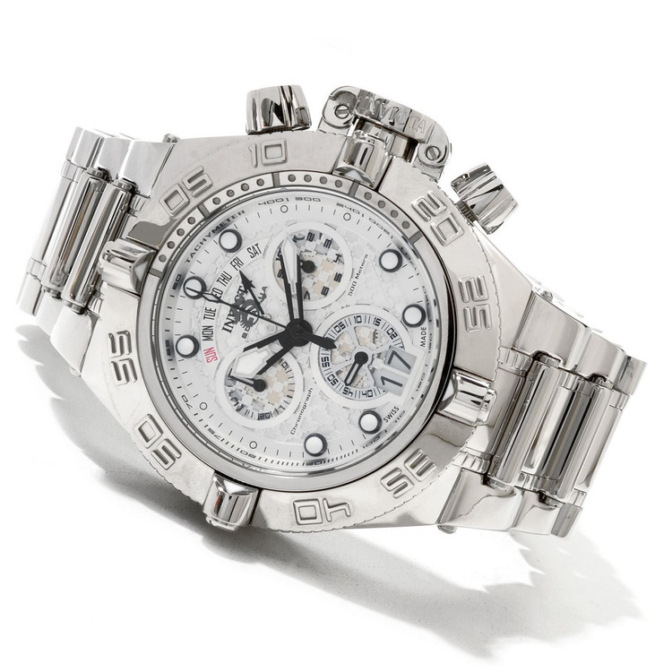 "Invicta 11874 Men's Subaqua Noma IV Swiss Quartz Chronograph "" High Polish "" Bracelet Watch   Free Shipping"
