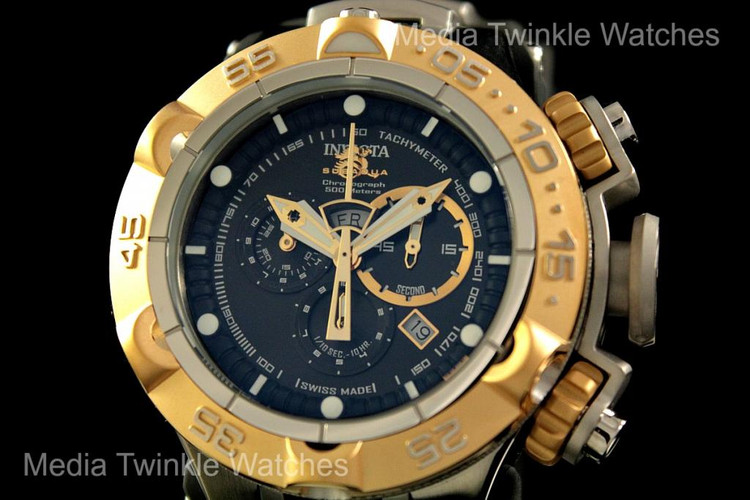 Invicta 12879 Subaqua Noma V Swiss Quartz Chronograph Black Polyurethane Strap Watch | Free Shipping