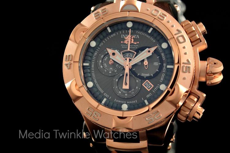 Invicta 12882 Subaqua Noma V Swiss Quartz Chronograph Black Polyurethane Strap Watch | Free Shipping