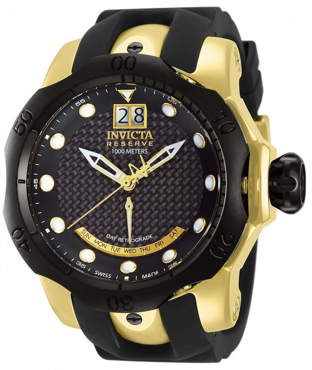 Invicta 13852 Reserve Men's Venom Swiss Made Quartz Polyurethane Strap Watch | Free Shipping