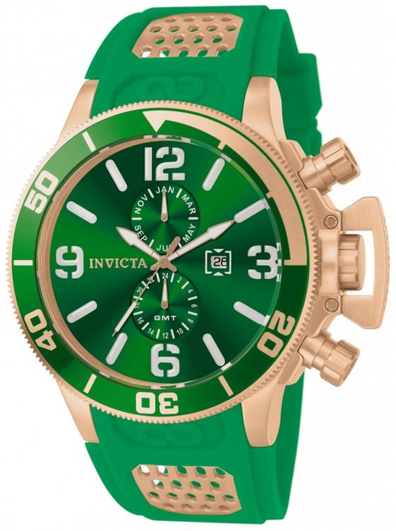 Invicta 80310 Men's Corduba Quartz GMT Multifunction Poly Strap Watch | Free Shipping