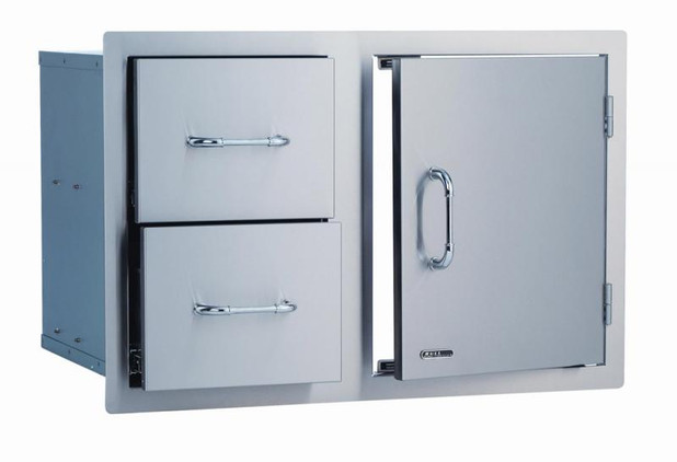"25876 30"" Stainless Steel Door/Drawer Combo"