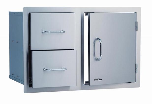 """25876 30"""" Stainless Steel Door/Drawer Combo"""
