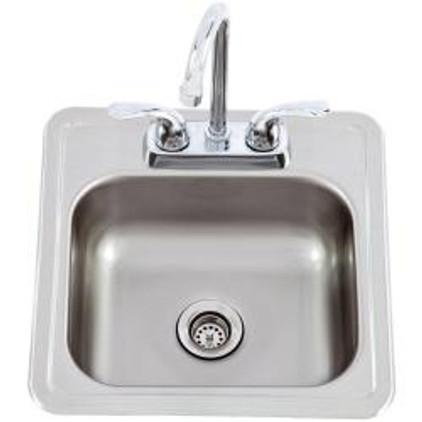 12391 Large Stainless Steel Sink with Faucet