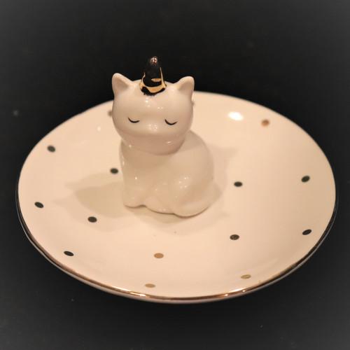 Unicorn Cat Ring Holder and Trinket Dish