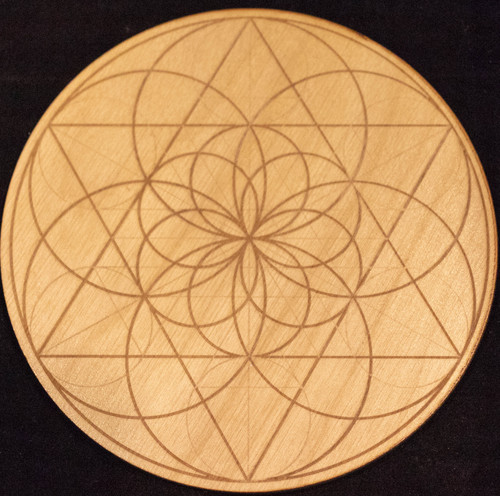 Geometric Wooden Crystal Grid