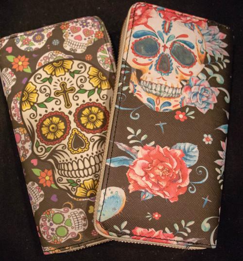 Sugar Skull Print Wallet