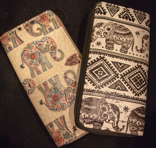 Elephant Print Wallets