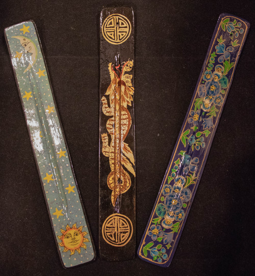Painted Wooden Incense Holder
