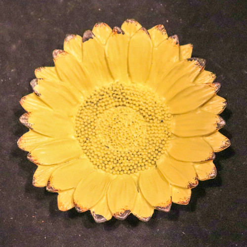 Yellow Meadow Flower Metal Tray